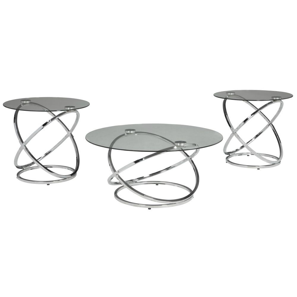 Valley Cocktail Table & 2 End Tables - Angle