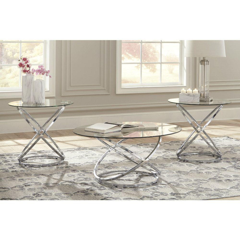 Valley Cocktail Table & 2 End Tables - Lifestyle