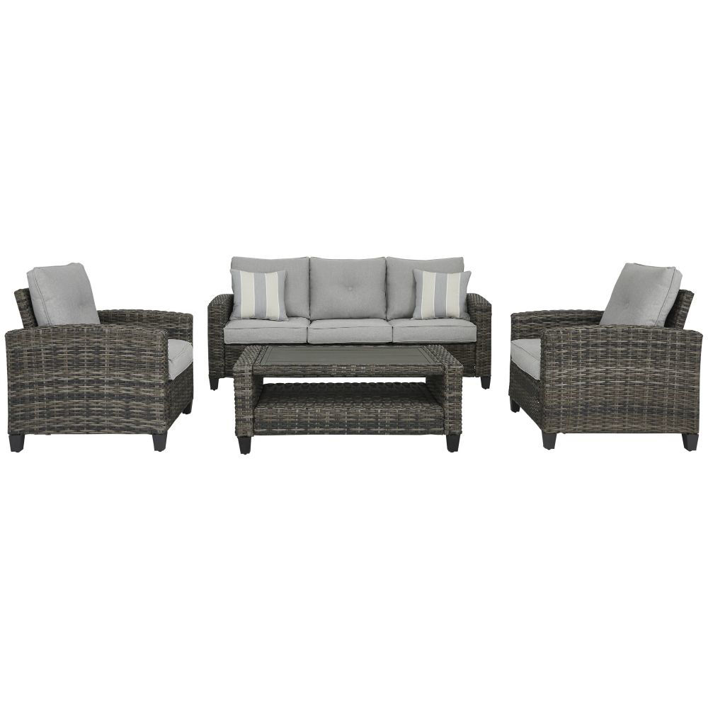 Tacoma 4-Piece Outdoor Seating Set - Front