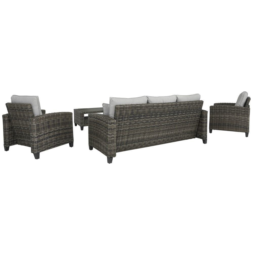 Tacoma 4-Piece Outdoor Seating Set - Rear