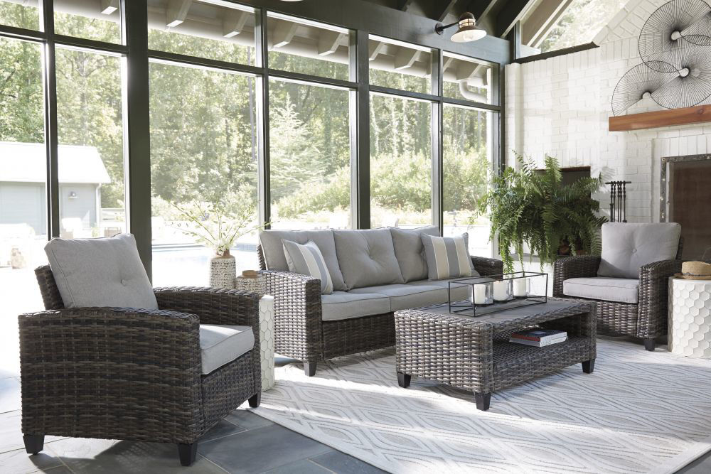Tacoma 4-Piece Outdoor Seating Set - Lifestyle