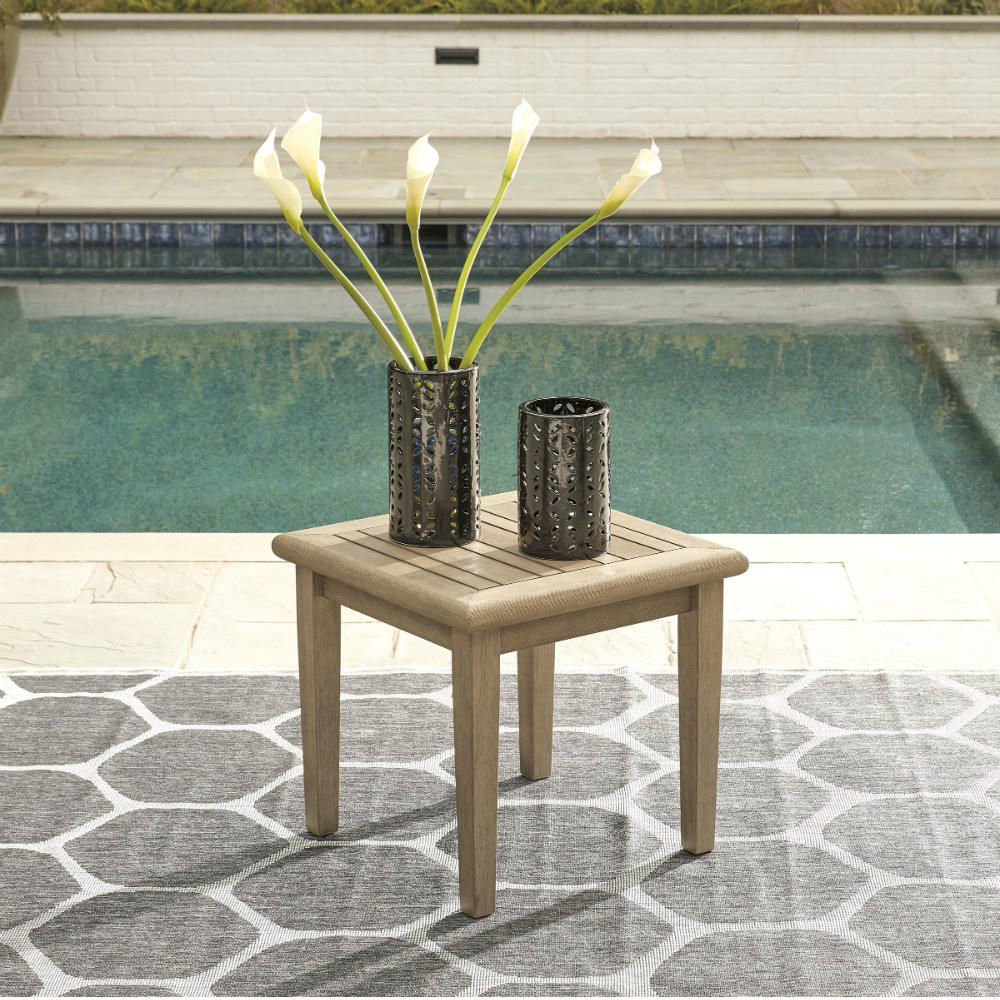 Tulum Outdoor End Table - Lifestyle