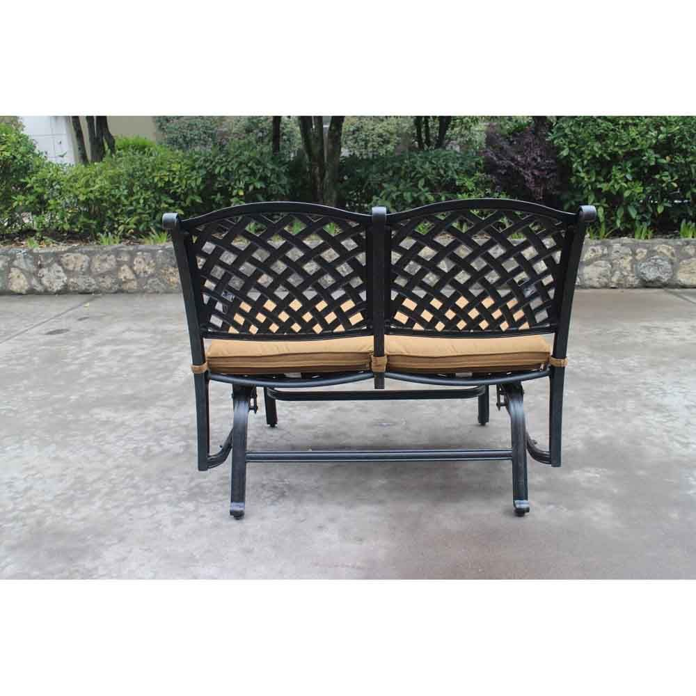 Taos Bench Glider With Cushions Back