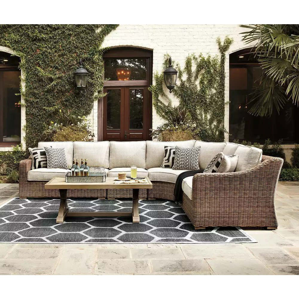 Milan Outdoor Sectional - Lifestyle