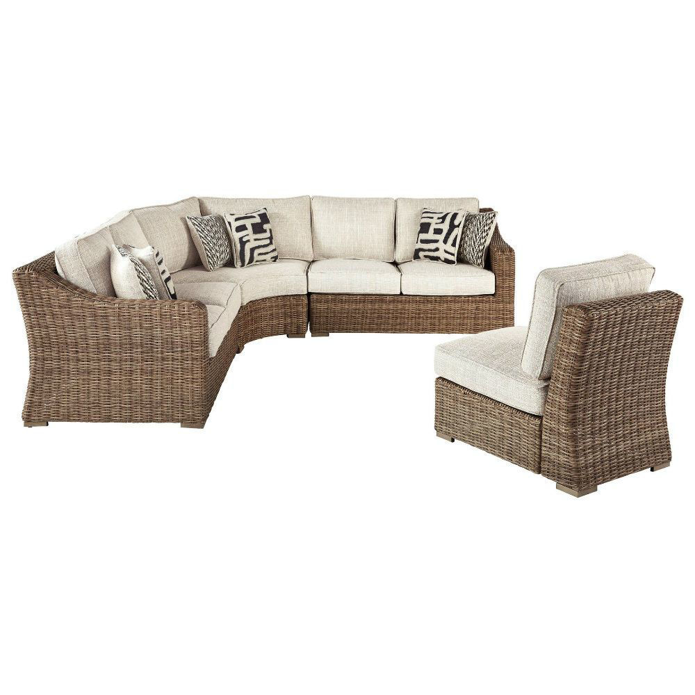 Milan Outdoor Sectional - Armless Chair