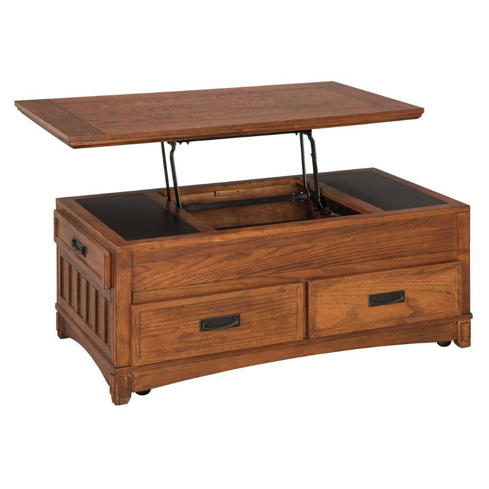 Mission Lift-top Cocktail Table - Lift-Top