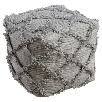 Adelphie Pouf - Natural/Gray