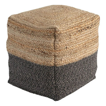 Sevda Pouf - Natural/Black