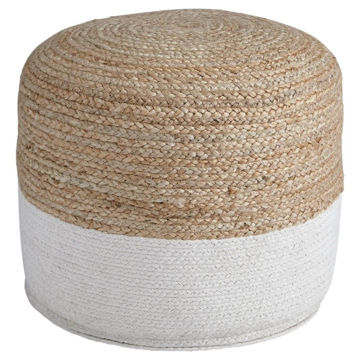 Sedva Pouf - Natural/White