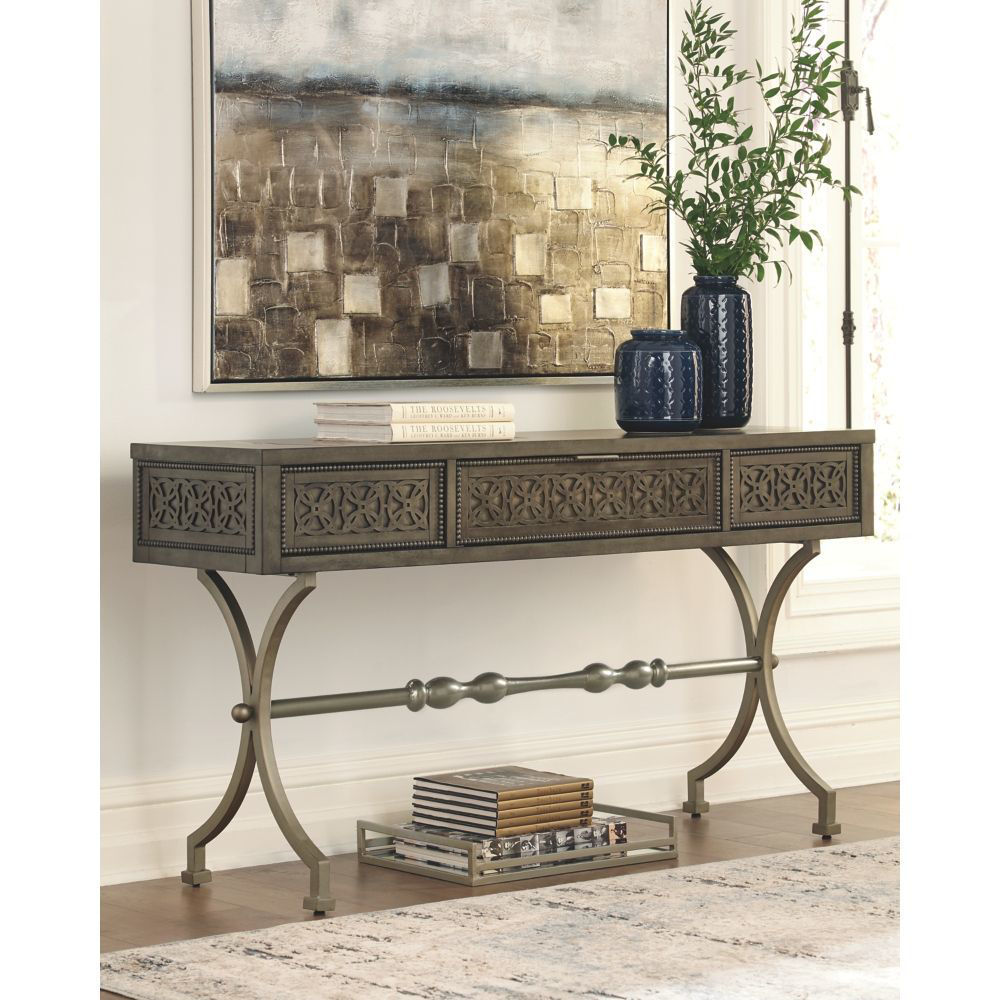 Aldercy Console Sofa Table - Lifestyle