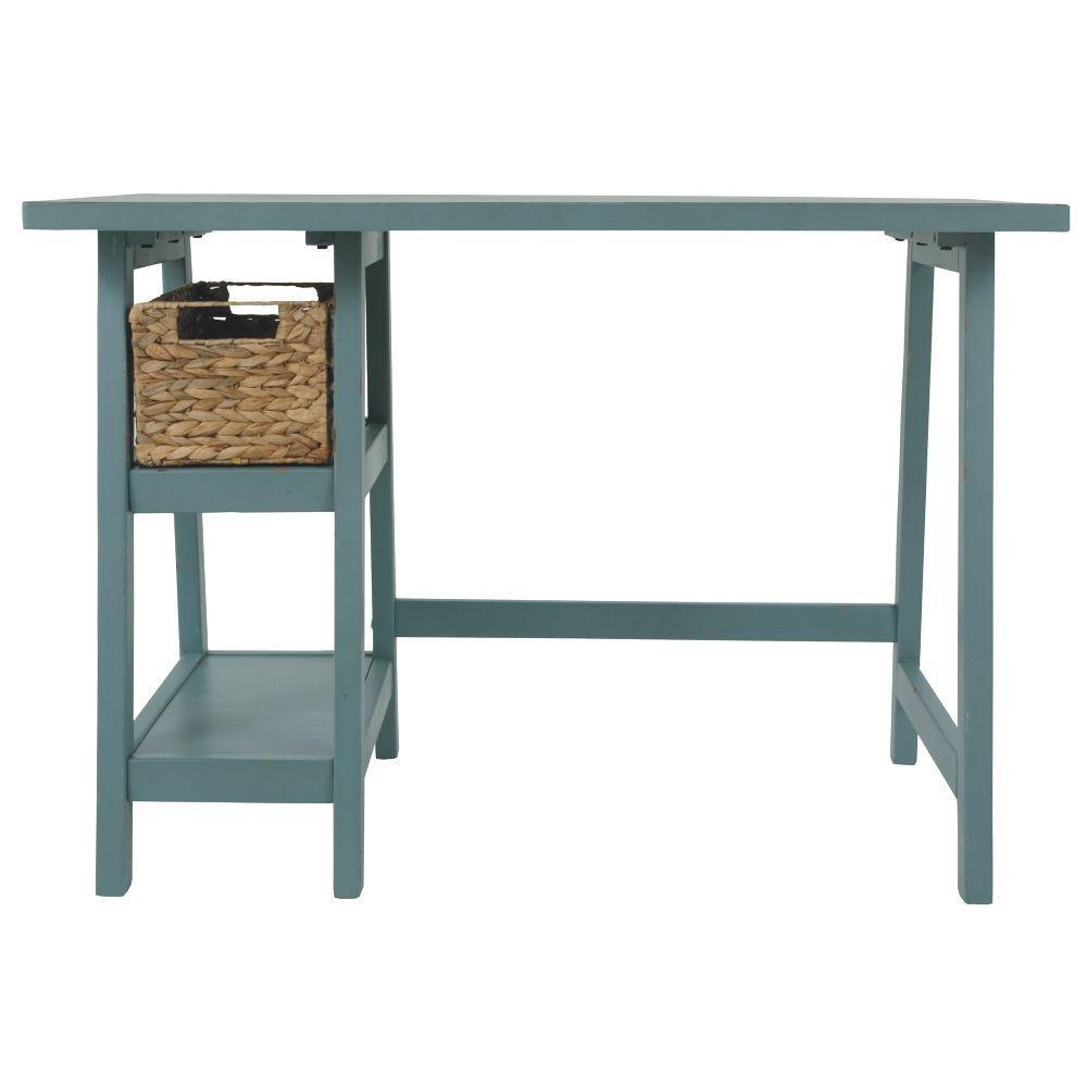 Miriana Small Office Desk - Teak - Front