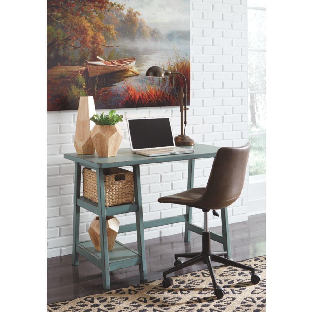 Miriana Small Office Desk - Teak - Lifestyle