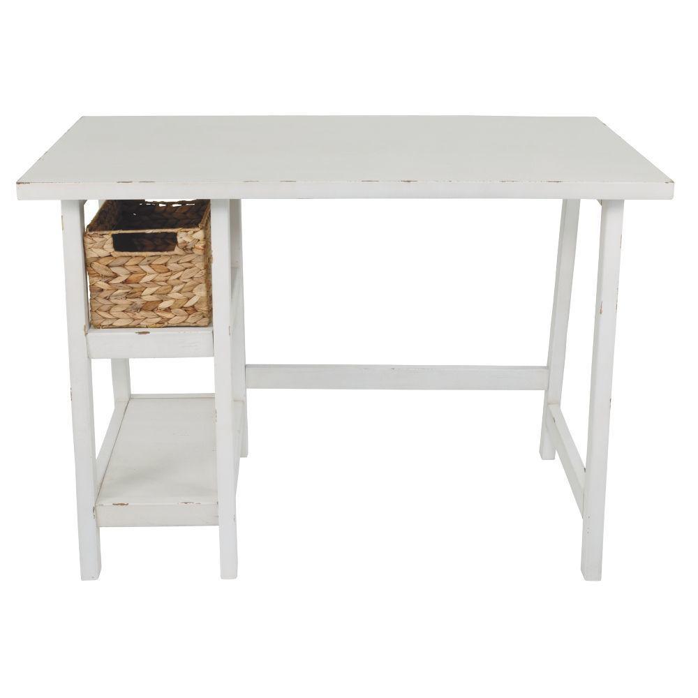 Miriana Small Office Desk - White - Front