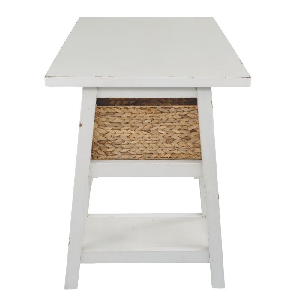 Miriana Small Office Desk - White - Side