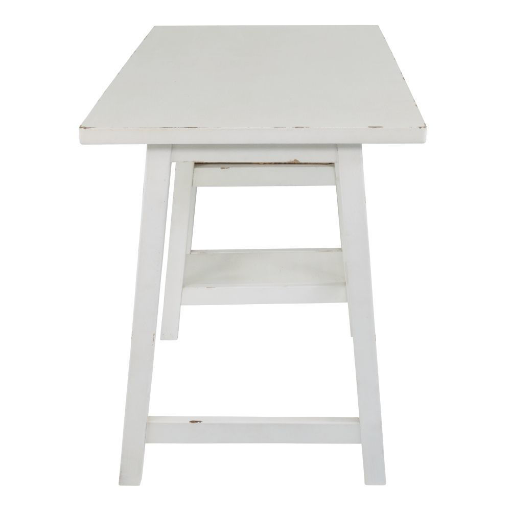 Miriana Small Office Desk - White - Other Side