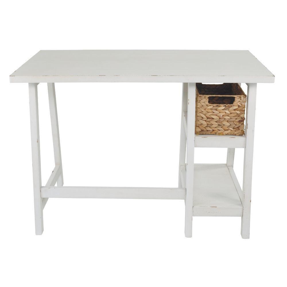 Miriana Small Office Desk - White - Rear