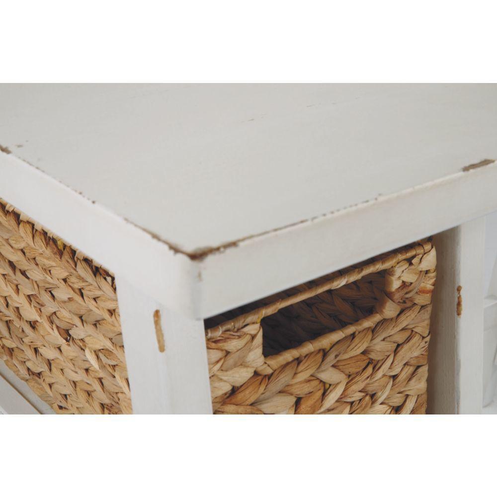 Miriana Small Office Desk - White - Basket Detail