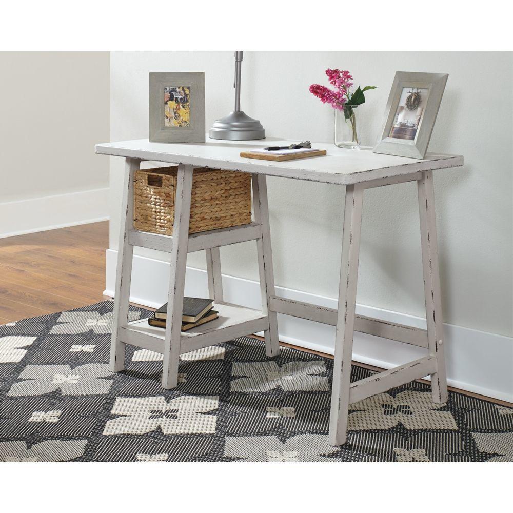 Miriana Small Office Desk - White - Lifestyle