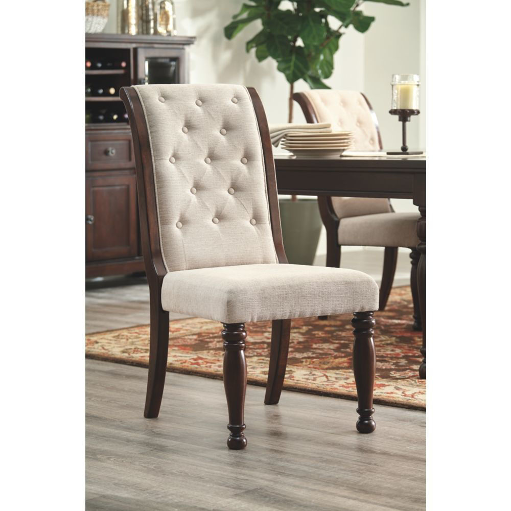 Poston Upholstered Dining Chair - Lifestyle