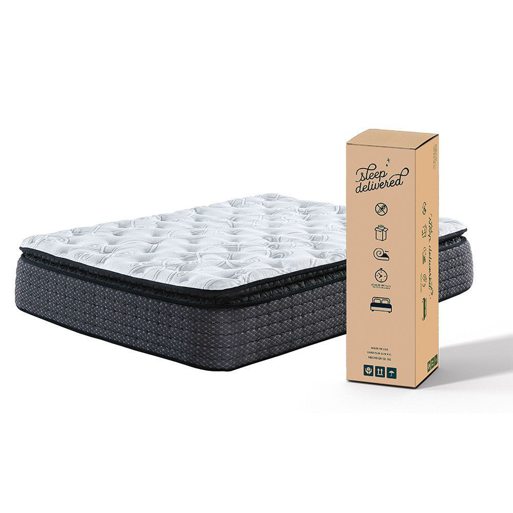Atlas Euro Plush Pillowtop Bed-in-a-Box - Package