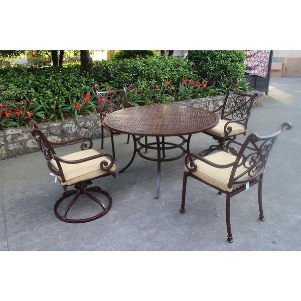 Santa Rosa 5-Piece Round Dining Group
