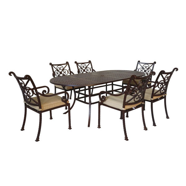 Picture of Santa Rosa 7-Piece Oval Dining Table And Arm Chairs