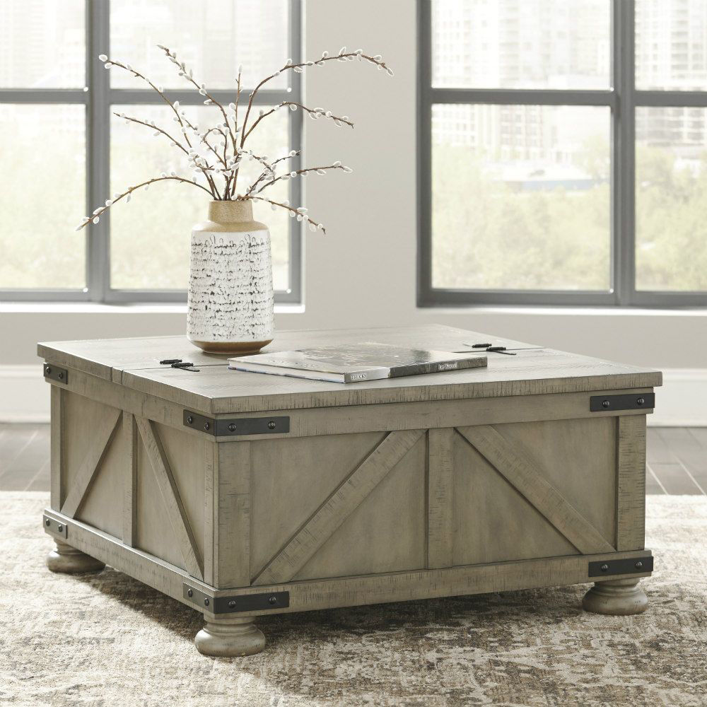 Aldwin Cocktail Table with Storage - Lifestyle