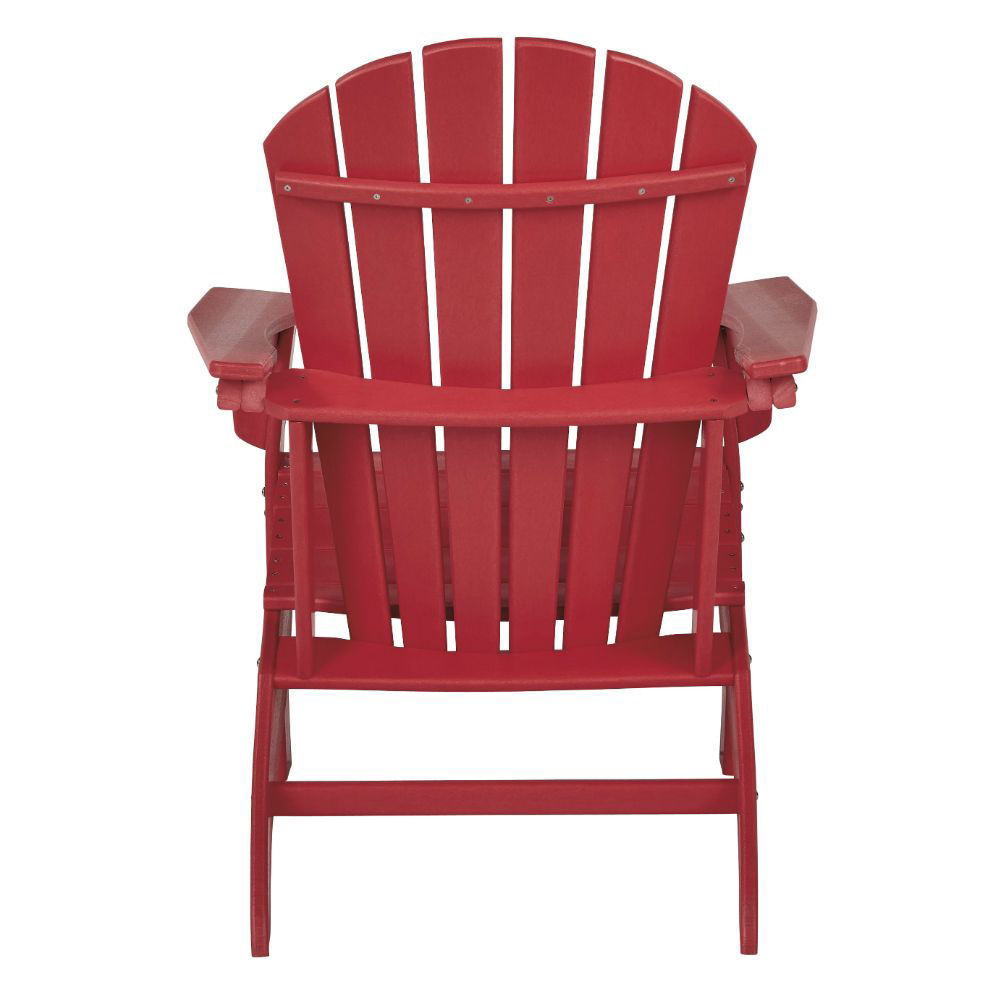 Adirondack Chair - Red - Rear