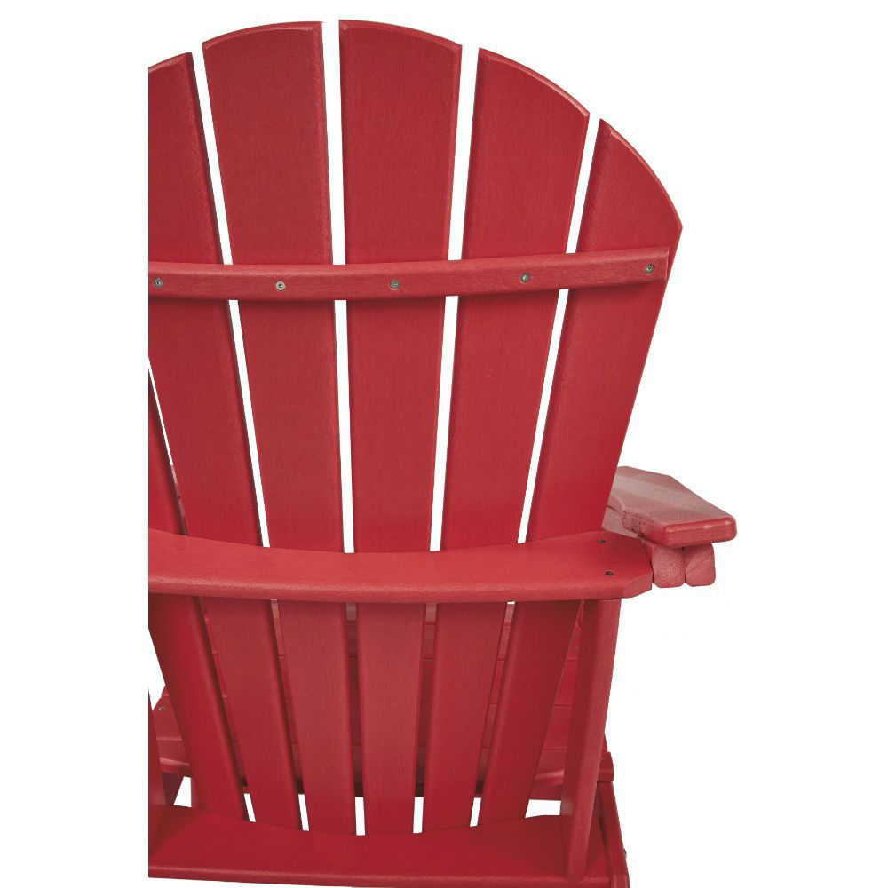Adirondack Chair - Red - Detail Rear