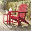 Adirondack Chair and Table - Red - Lifestyle Detail