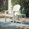 Adirondack Chair and End Table - White - Lifestyle