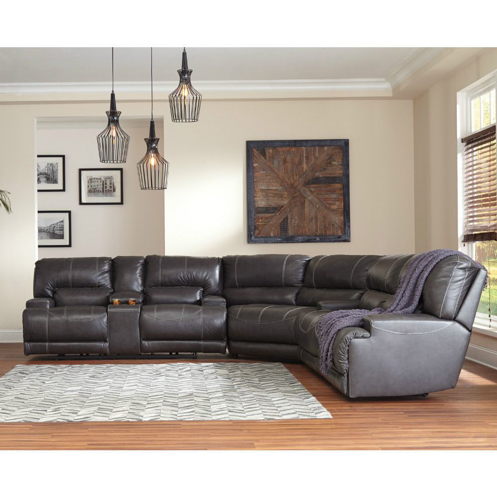 Micah 3-Piece Reclining Sectional - Lifestyle