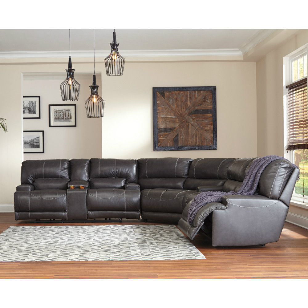 Micah 3-Piece Reclining Sectional - Lifestyle Recline