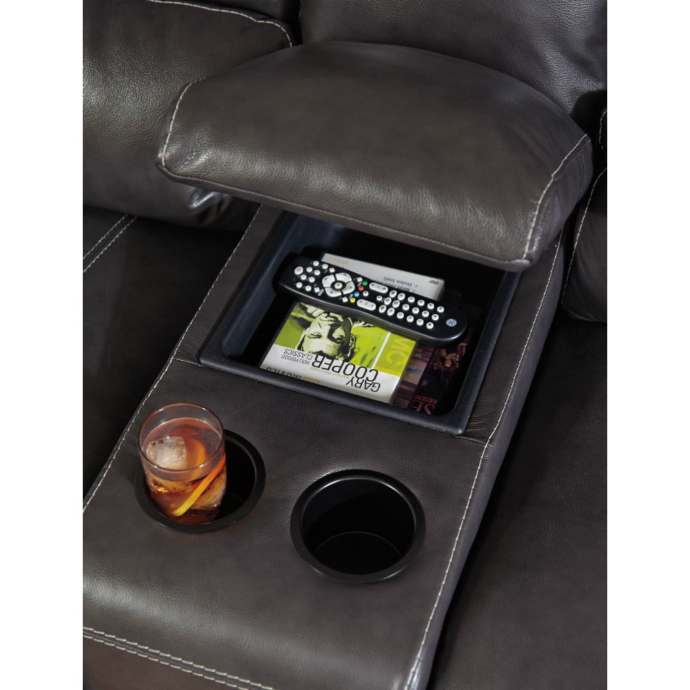 Micah 3-Piece Power Reclining Sectional - Center Console