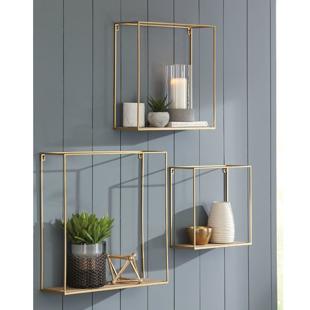 Efharis Wall Shelves - Set of 3 - Lifestyle
