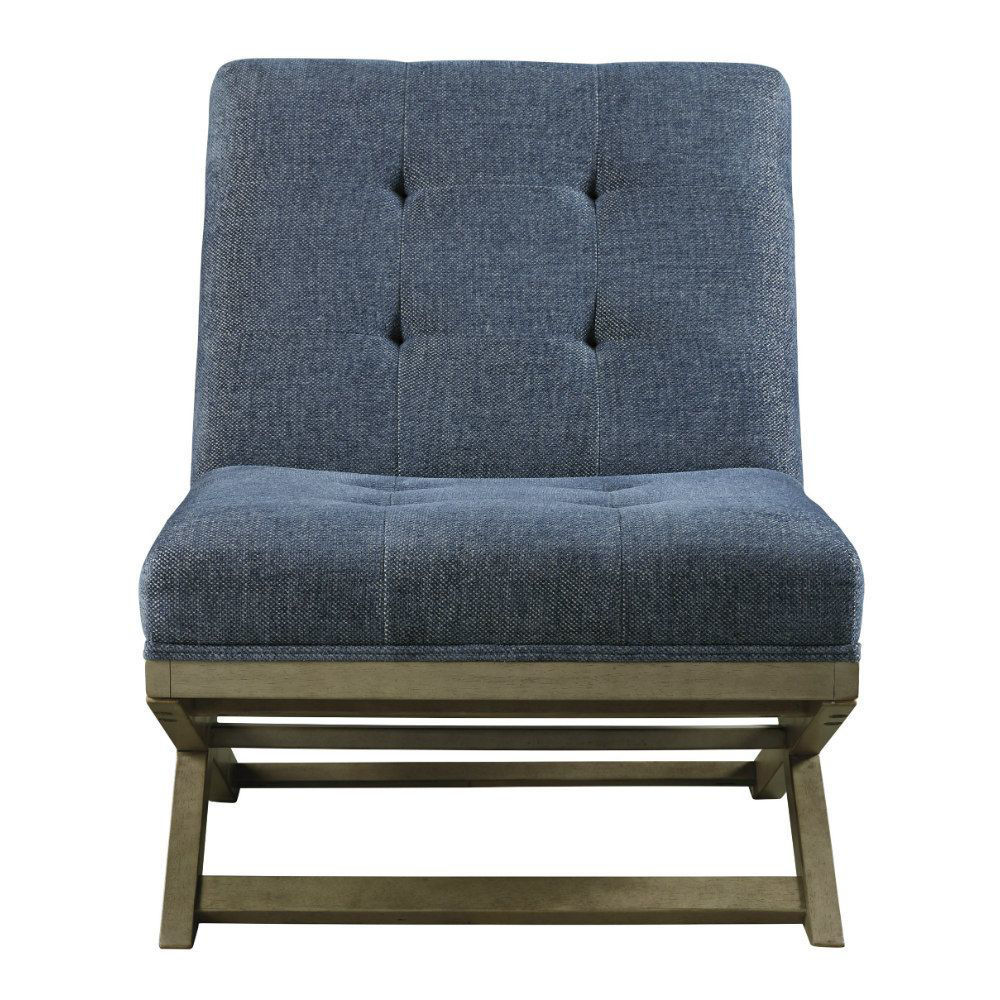 Crotalus Accent Chair - Blue - Front