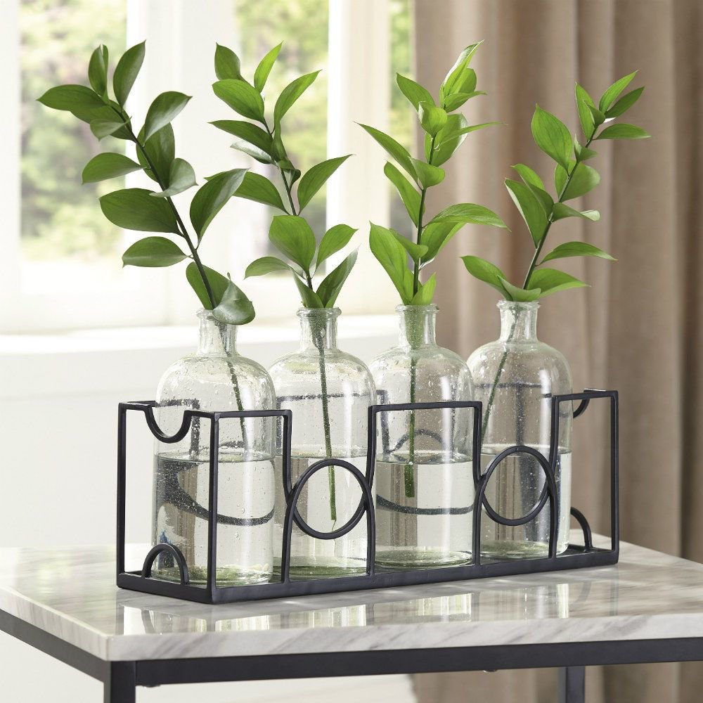 Mitre 5-Piece Vase Set - Lifestyle
