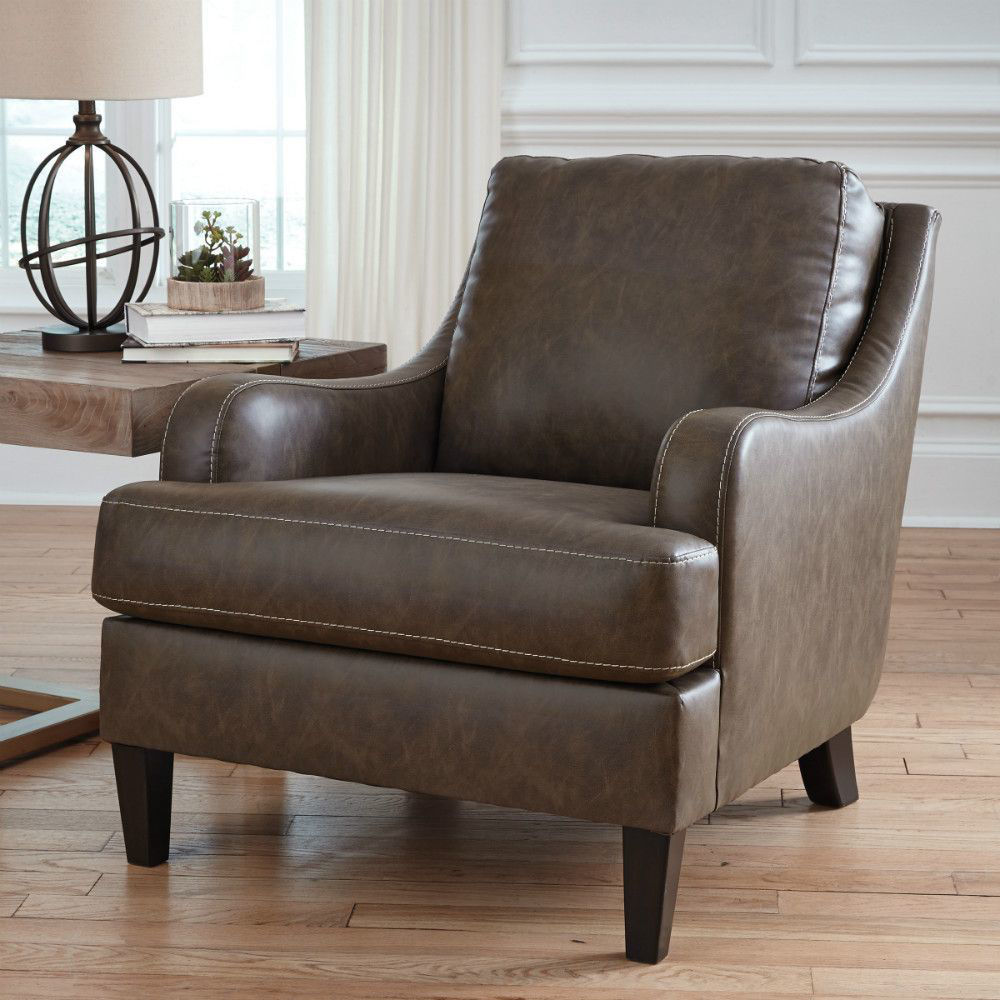 Terrelle Accent Chair - Walnut - Lifestyle