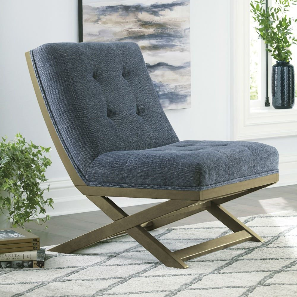 Crotalus Accent Chair - Blue - Lifestyle