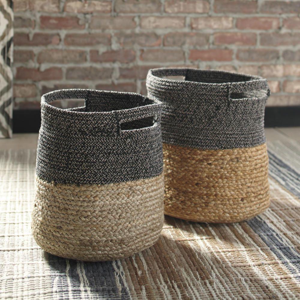 Parrish Baskets - Black - Set of 2 - Lifestyle