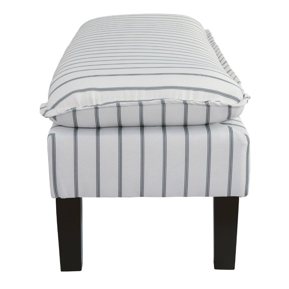 Meadow Pinstripe Accent Bench - Side