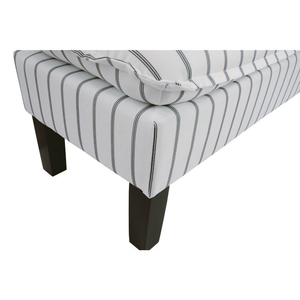 Meadow Pinstripe Accent Bench - Foot Detail