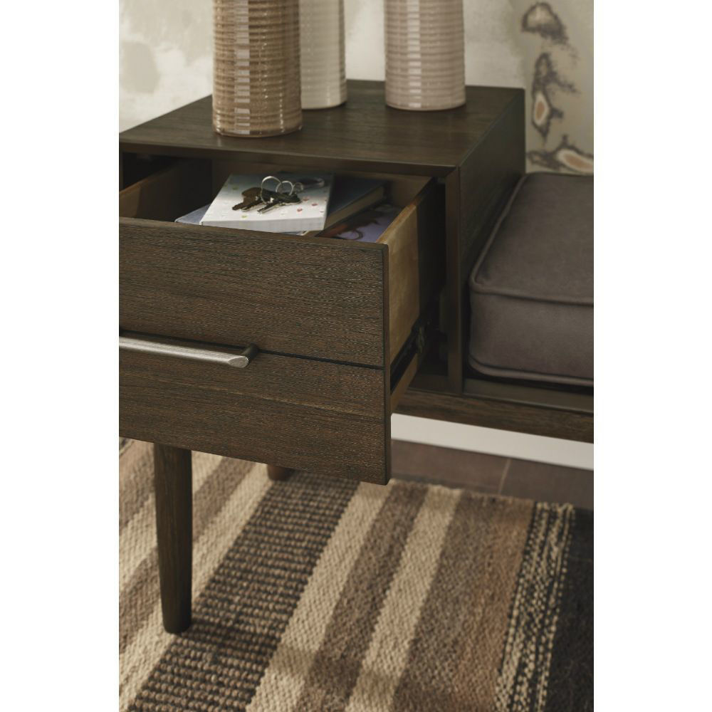 Gavin Accent Bench - Lifestyle Open Drawer