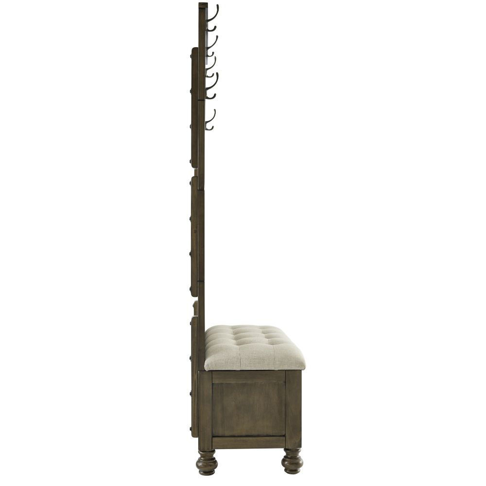 Rockwell Hall Tree with Storage Bench - Side
