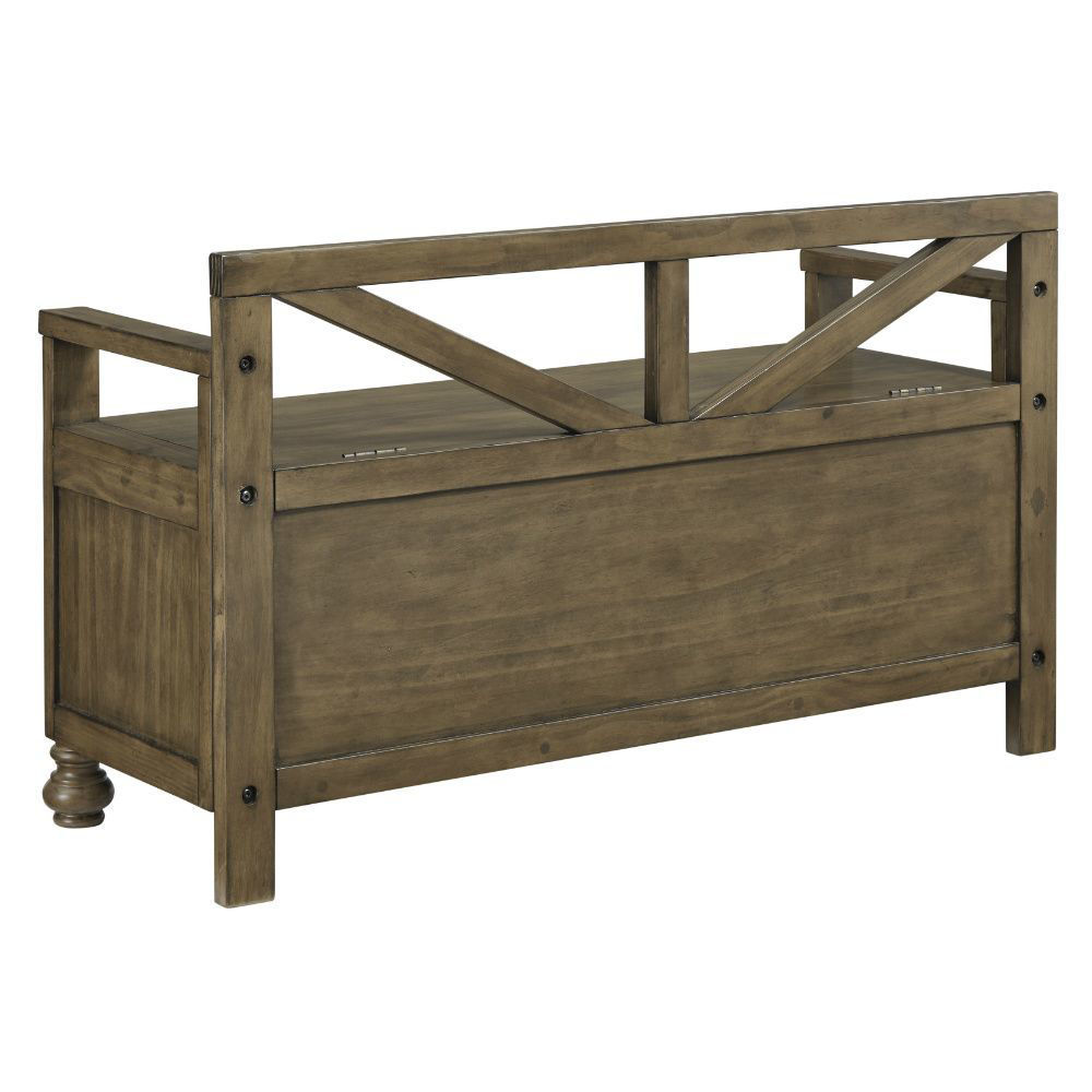 Rockwell Storage Bench - Rear
