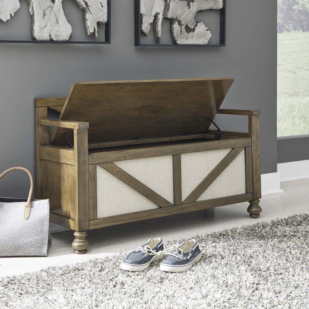 Rockwell Storage Bench - Lifestyle Open