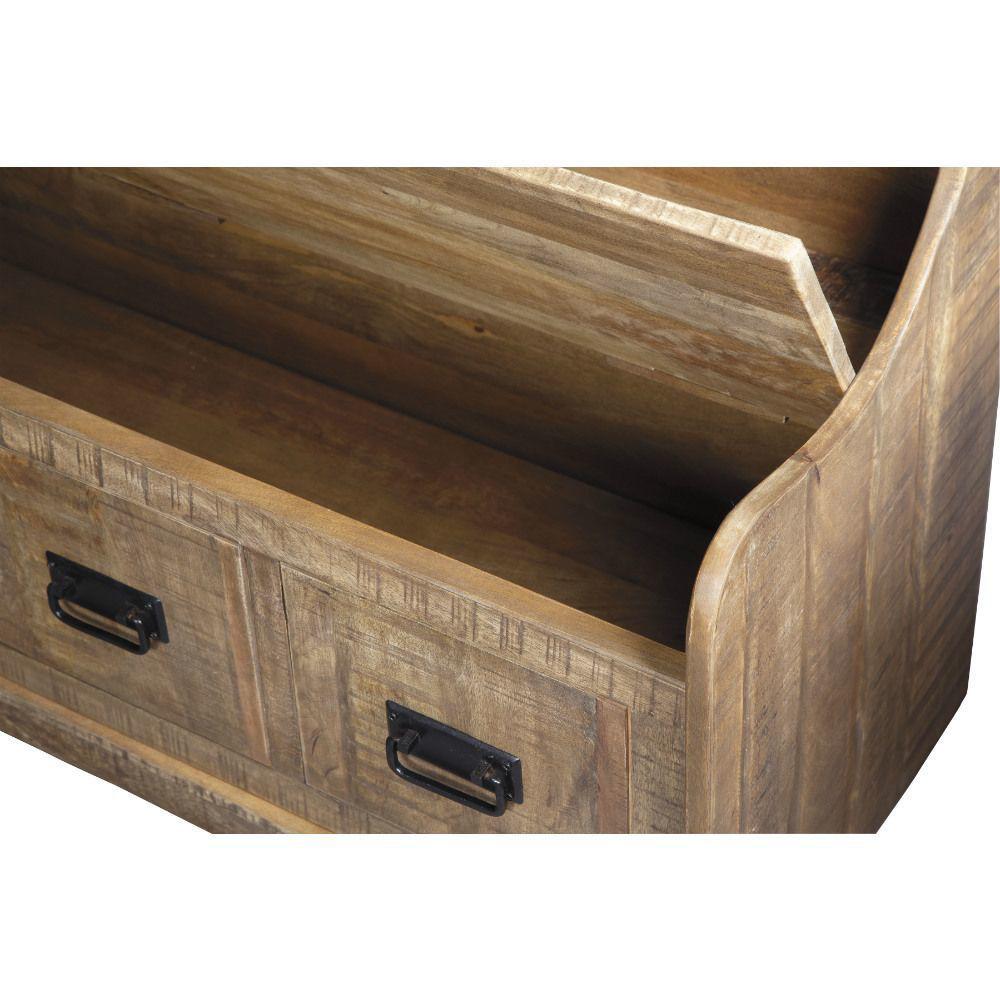Garrett Storage Bench - Open Top Detail