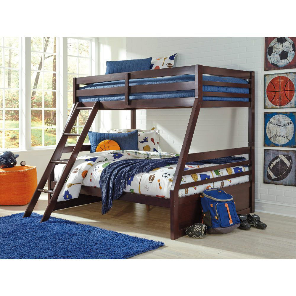 Helme Bunk Bed with Ladder - Twin/Full  - Boy Lifestyle