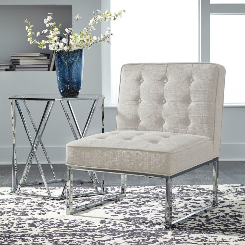 Cimarosse Accent Chair - Ivory - Lifestyle