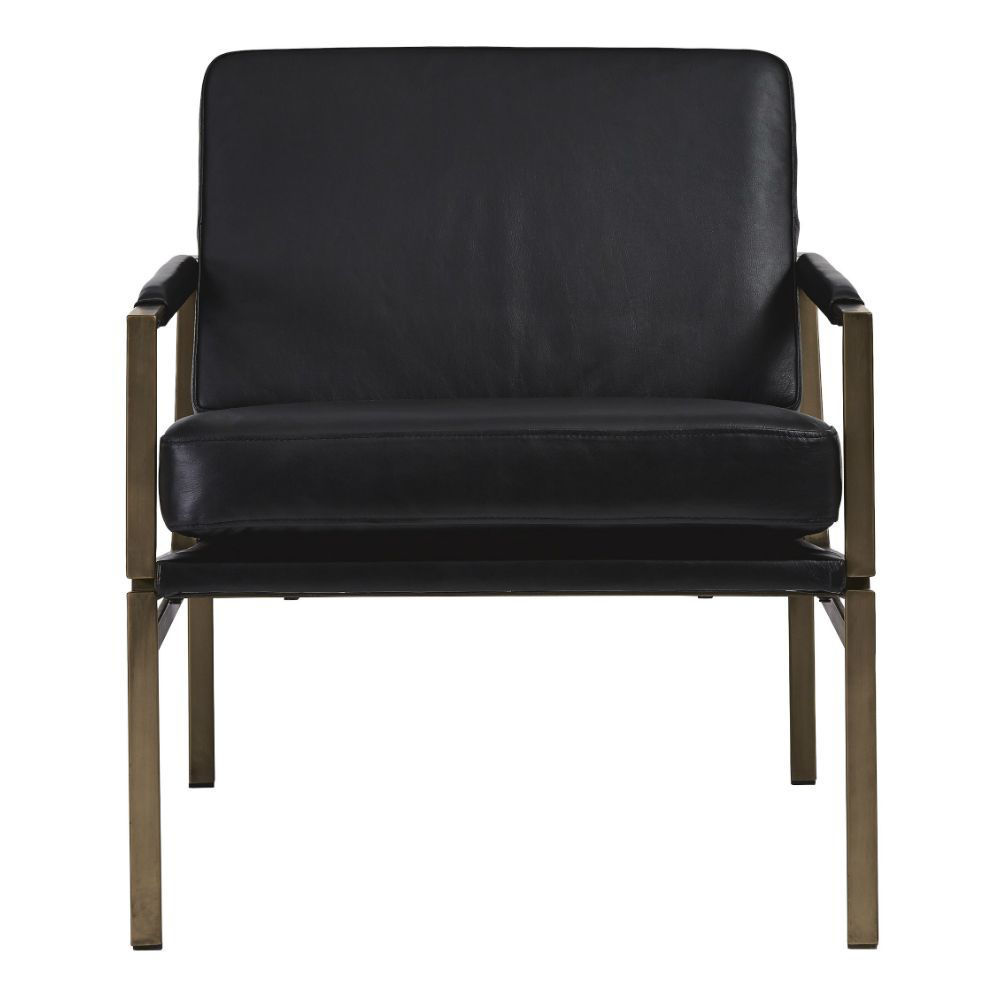 Puckman Accent Chair - Black - Front